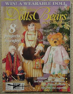 AUSTRALIAN DOLLS BEARS & COLLECTABLES Vol 12 No 1 Incl. PATTERN SHEET