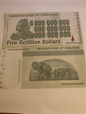 Zimbabwe 5 Octillion Series,  2008 P-91c