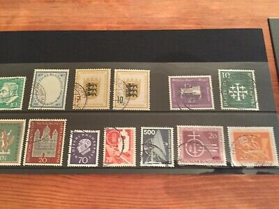 Germany assortment of stamps from early 1950's mostly better values incl Berlin