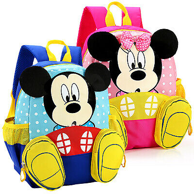 Toddler Kid Children Girls Boy Mickey Mouse Backpack Bag Rucksack Safety Harness