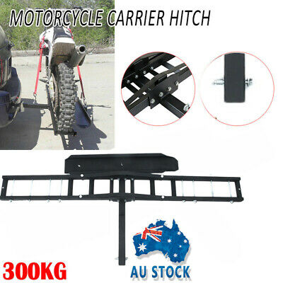 MOTORCYCLE RACK MOTORBIKE TOW BAR BIKE DIRTBIKE TRACK TRAILER CARRIER Qs
