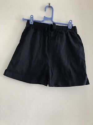 Marks and Spencer Boys Navy Blue Shorts Age 8-9 Years