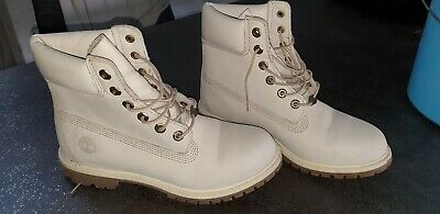 BOOTS BOTTINES CHAUSSURES cuir Femme blanche TIMBERLAND