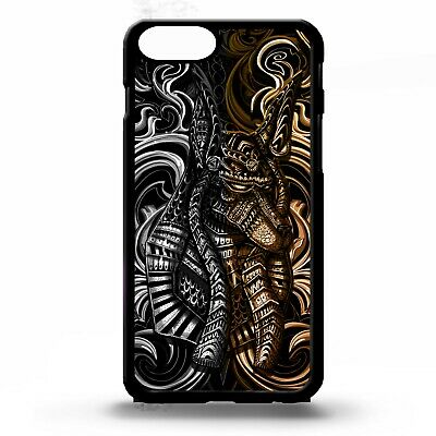 Anubis Jackal egyptian god of death underworld pattern graphic phone case cover