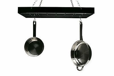 Kitchen Hanging Utensil Dish Pot Rack Square Holder Storage Organizer Pans& Hook
