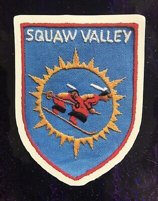 Squaw Valley California Ski Resort Sticker / Decal From Image Of Vintage Patch