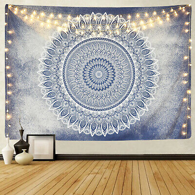 Hippie Mandala Print Tapestry Art Room Wall Hanging Psychedlic Tapestries Decor