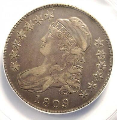 1809 Capped Bust Half Dollar 50C Coin - ANACS VF30 - Rare Certified Coin!