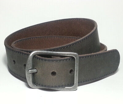 Cole Haan Men Belt Size 40 perforated edge Black 35mm Perforated Trim Dress $78