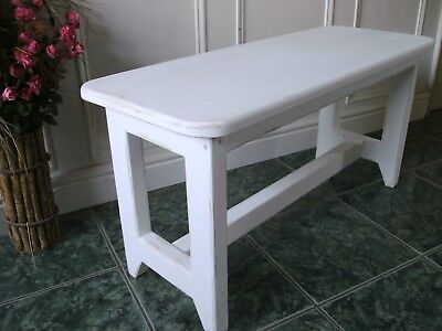 solid pine bench seat rustic shabby chic wooden painted bench.