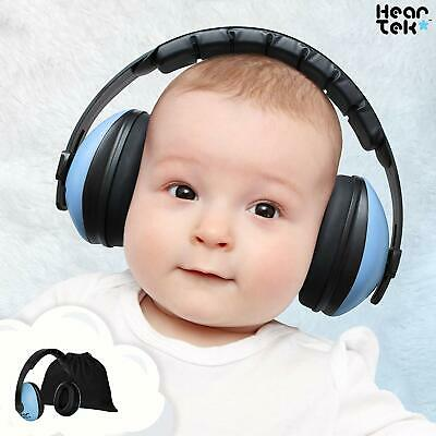 HearTek Baby Ear Protection-Noise Cancelling Muffs for Babies Ages 0 to 3 Blue