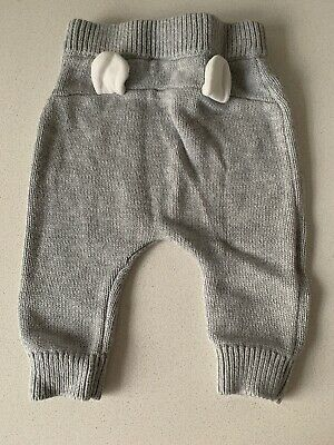 Seed Knitted Grey Leggings, Size 3-6months
