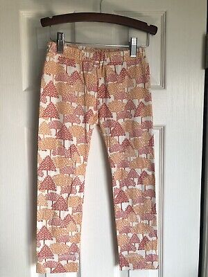Kate Quinn Organics Girls Peach/Red Woodlands Leggings Size 6 Years
