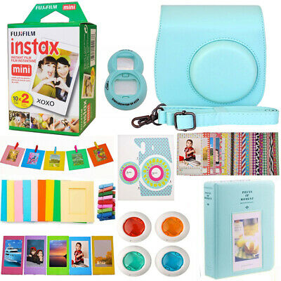 Fujifilm INSTAX Mini Instant Film Twin Pack + Camera Accessories Kit  For Mini 9