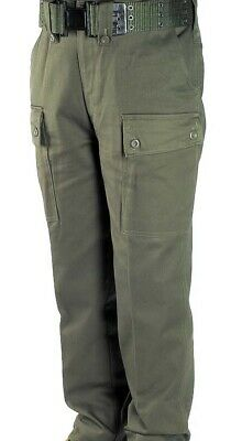 Childrens Cargo Combat Trousers [Olive Green]