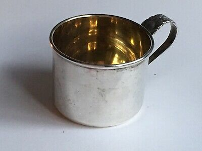 Vintage Antique Sterling Silver baby Cup by Lunt 551 No Monogram