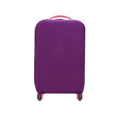 Travel Trolley Case Elastic Solid Luggage Suitcase Protector Cover Purple M #ur