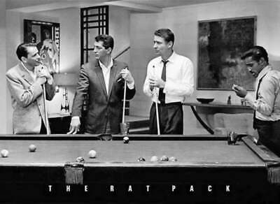 RAT PACK BILLIARDS POOL TABLE POSTER FRANK SINATRA DEAN MARTIN 36x24 FREE SHIP
