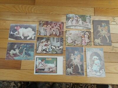 Lot of 10 Vintage Jack Russell Terrier Dog Picture Postcards Early 1900s Antique