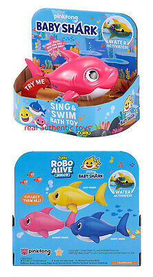 Pink Mommy - Robo Alive - Pinkfong Swim & Sing Shark - Made By Zuru - Preorder