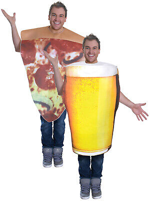 Adult Pint of Beer Pizza Oktoberfest Costume Mens Stag Funny Alcohol Fancy Dress