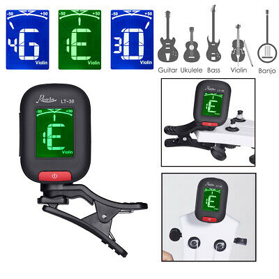 LCD Digital Electronic Guitar Tuner Clip-On Acoustic Bass,Violin,Ukulele,Banjo