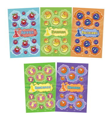 JFL Scratch N Sniff Stickers, 10 Fruity Fun Scents, Pack of 280