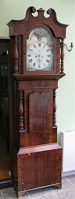 Grandfather Clock with Rolling Moon Phase - Joseph Elliott, Nantwich 1858