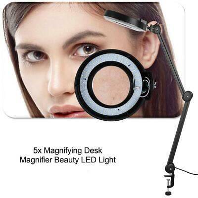 5xFacial Magnifying Magnifier Floor Stand Lamp Magnifying Beauty With Clamp