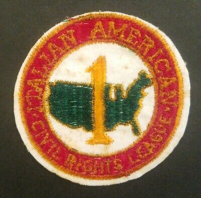 Italian American Civil Rights League Embroidered Patch Vintage 1961