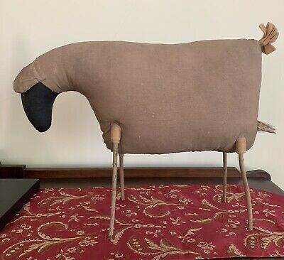 "2006 Primitive Hand Made Stick Lamb Sheep Sculpture 19"" Long 15"" Tall w/Tail"