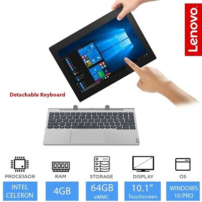"Lenovo Ideapad D330 10.1"" Touch 2 in1 Laptop Tablet Intel Celeron N4000 4GB 64GB"