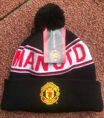 Manchester United. Official Merchandise Bnwt Bobble Hat. Cg1
