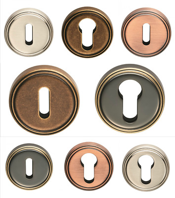 Carlisle Brass Round Keyhole Escutcheon 42mm dia Polished Chrome AQ41