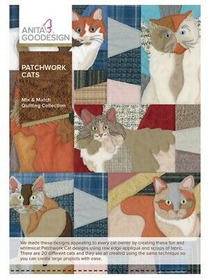 Anita Goodesign - Patchwork Cats - Quilting Coll- Machine Embroidery Designs Usb