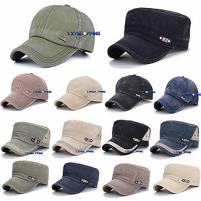 Men Women Retro Trucker Hat Cadet Army Combat Military Patrol Baseball Sport Cap