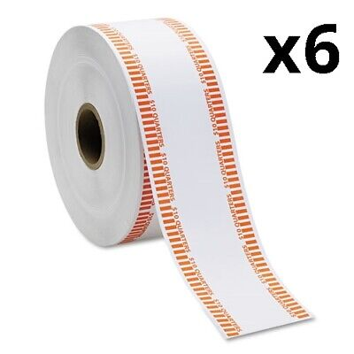 Automatic Coin Rolls, Quarters, $10, 1900 Wrappers/Roll, Pack of 6