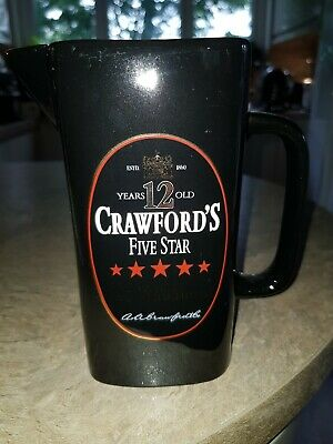 Crawfords Five Star Scotch Whisky Water Jug