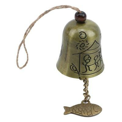 Vintage Buddha Statue Bell Blessing Feng Shui Wind Chime for Good Luck LA