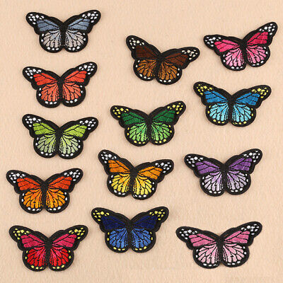 Monarch Butterfly Small Mini Embroidered Patch Sew On Iron On Applique Motif
