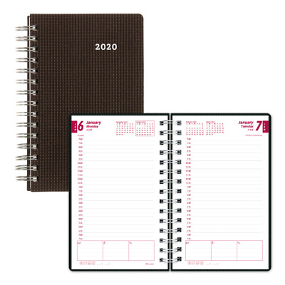 "Brownline Daily Planner, 5"" x 8"", Black, January 2020 to December 2020"