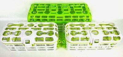 Munchkin Dishwasher Baskets Lot Of (3) For Baby Utensils Green And White