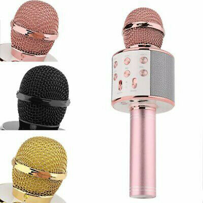 Handheld Wireless Bluetooth Karaoke WS-858 Microphone USB Player MIC Speaker UK