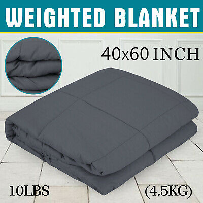 Weighted Blanket 4.5KG For Adults Kids Deep Sleep Heavy Gravity Glass Beads