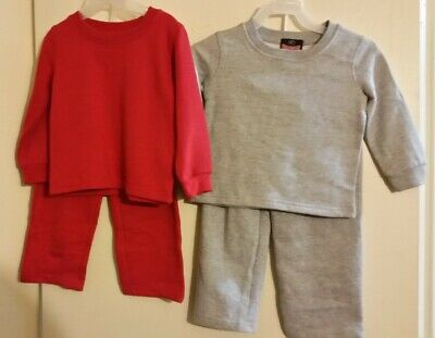 Toddler Boy's Lot - 2 Sweat Suits & 3 Long Sleeved Shirts 2T