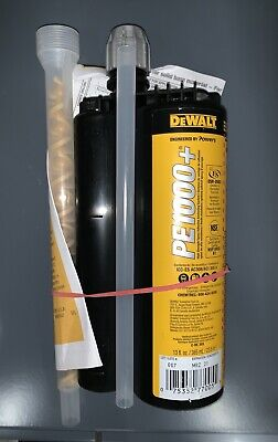 DEWALT ENGINEERED BY POWERS 0500SD-PWR Anchoring Adhesive,13.0 oz.,Epoxy
