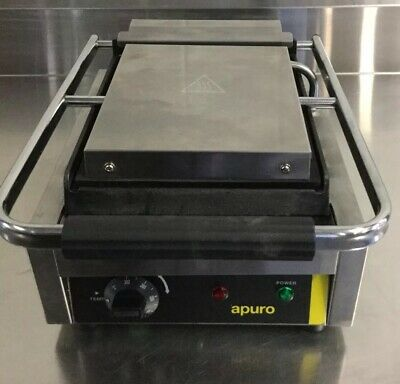 Commercial Restaurant Cafe APURO Kebab Smooth Plate Grill Contact Station