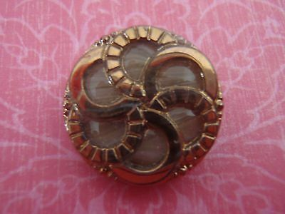 Vintage Art Deco Glass Button Unusual Design sew craft scrapboook jewelry knit