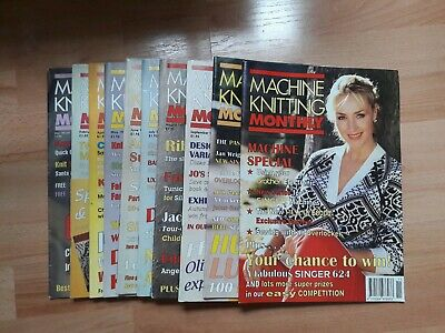 Machine Knitting Monthly Magazines All 1997 Issues