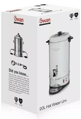 Swan 20L SWU20L Commercial Stainless Steel Catering Urn Hot Water Boiler New